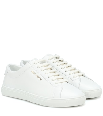 Saint Laurent - Andy leather sneakers - mytheresa.com