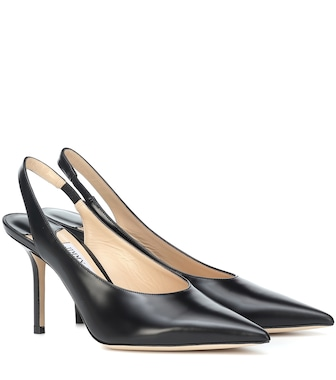 Jimmy Choo - Ivy 85 leather slingback pumps - mytheresa.com