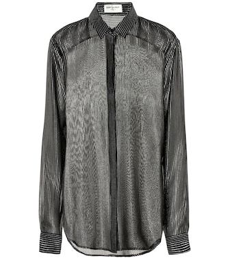 Saint Laurent - Silk-blend crêpe de chine blouse - mytheresa.com