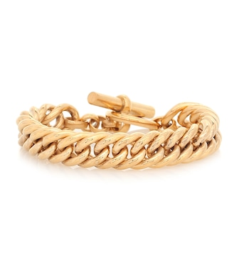 Tilly Sveaas - Large 23.5kt gold-plated curb chain bracelet - mytheresa.com