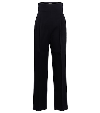 Alaïa - High-rise cotton gabardine pants - mytheresa.com
