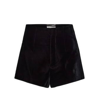 Saint Laurent - Shorts de terciopelo - mytheresa.com