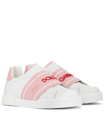 Dolce & Gabbana Kids - Logo leather sneakers - mytheresa.com
