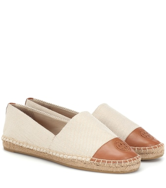 Tory Burch - Leather-trimmed espadrilles - mytheresa.com