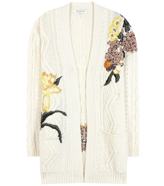 Valentino - Embroidered wool and alpaca cardigan - mytheresa.com