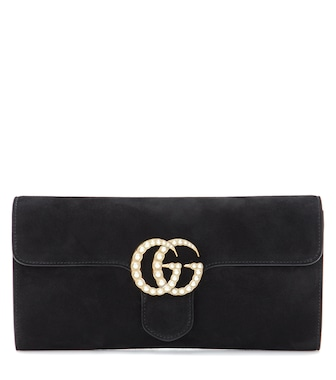 Gucci - GG Marmont suede clutch - mytheresa.com