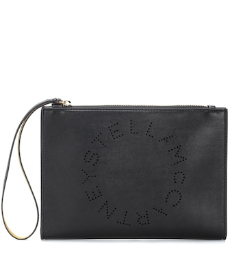 Stella McCartney - Stella Logo faux leather clutch - mytheresa.com