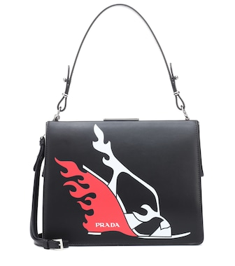 Prada - Light Frame leather shoulder bag - mytheresa.com