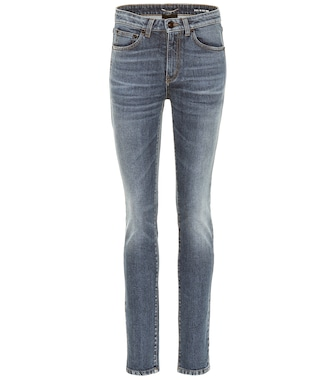 Saint Laurent - High-rise skinny jeans - mytheresa.com