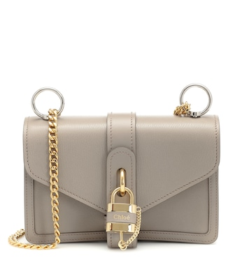 Chloé - Aby leather shoulder bag - mytheresa.com