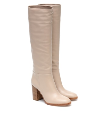 Gianvito Rossi - Melissa 85 leather 85 knee-high boots - mytheresa.com