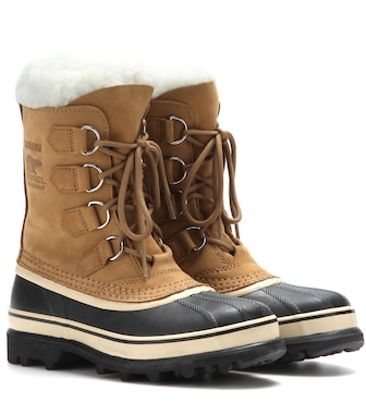 Sorel - Caribou® leather and rubber boots - mytheresa.com