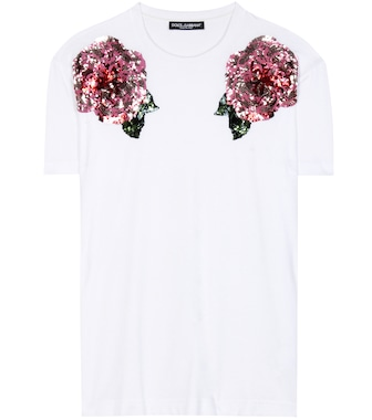 Dolce & Gabbana - Sequinned cotton t-shirt - mytheresa.com