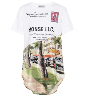 Monse - Printed silk and cotton-blend T-shirt - mytheresa.com