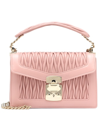 Miu Miu - Confidential leather shoulder bag - mytheresa.com