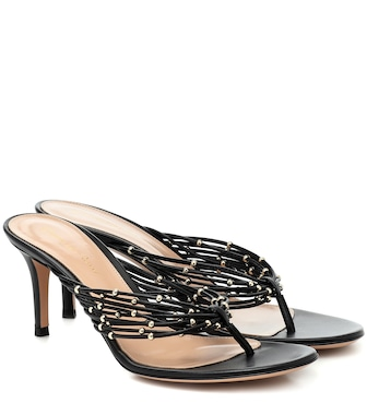 Gianvito Rossi - Luxor leather thong sandals - mytheresa.com