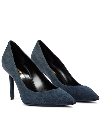 Saint Laurent - Anja 85 denim pumps - mytheresa.com
