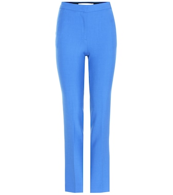 Victoria Victoria Beckham - Virgin wool-blend cigarette pants - mytheresa.com
