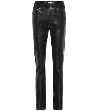 Balenciaga - High-rise leather pants - mytheresa.com