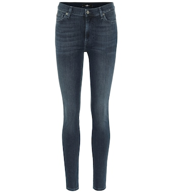 7 For All Mankind - High-Rise Jeans The Skinny - mytheresa.com