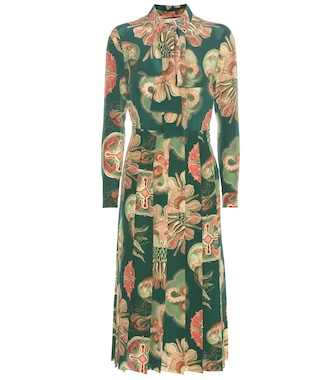 Gucci - Printed crêpe silk midi dress - mytheresa.com