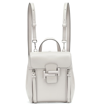 Tod's - Double T leather backpack - mytheresa.com