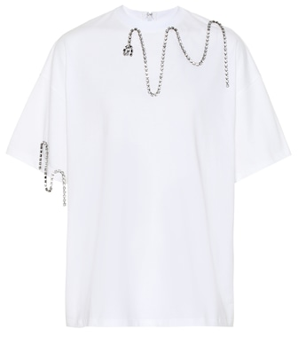 Christopher Kane - Embellished cotton T-shirt - mytheresa.com