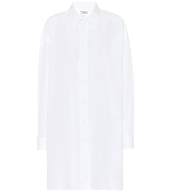 Maison Margiela - Cotton-poplin mini shirt dress - mytheresa.com