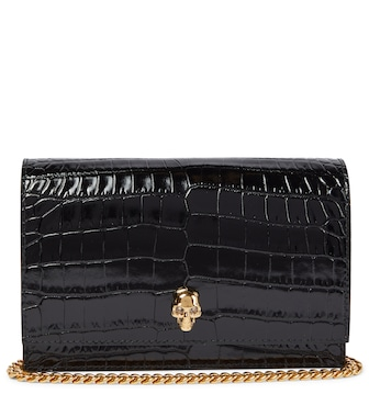 Alexander McQueen - Skull Small leather crossbody bag - mytheresa.com