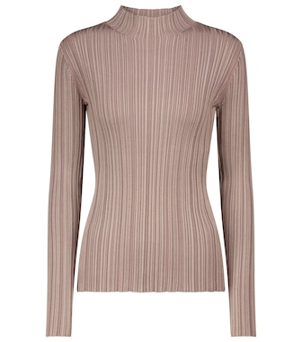 Acne Studios - High-neck ribbed-knit sweater - mytheresa.com