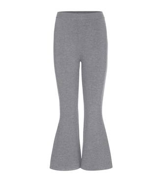 Stella McCartney - Wool-blend cropped flared trousers - mytheresa.com