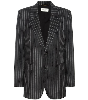 Saint Laurent - Gestreifter Wollblazer - mytheresa.com
