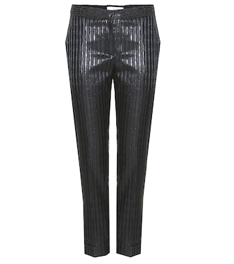 Carven - Metallic-striped trousers - mytheresa.com