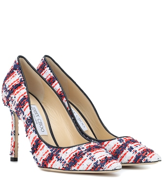 Jimmy Choo - Exclusive to Mytheresa – Romy 100 tweed pumps - mytheresa.com