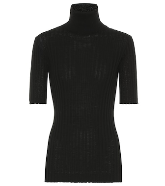 Bottega Veneta - Ribbed turtleneck wool sweater - mytheresa.com