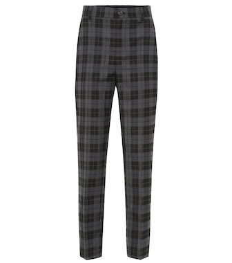 Balenciaga - High-rise checked stretch-wool pants - mytheresa.com