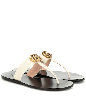 Gucci - Double G leather sandals - mytheresa.com