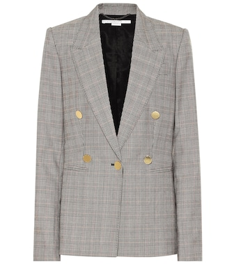 Stella McCartney - Checked wool blazer - mytheresa.com