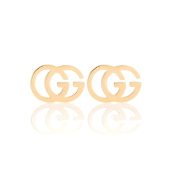 Gucci - GG 18kt gold stud earrings - mytheresa.com