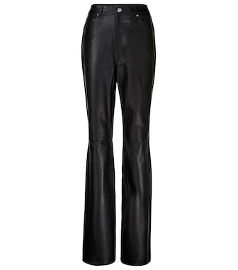 Grlfrnd - Mila high-rise leather straight pants - mytheresa.com