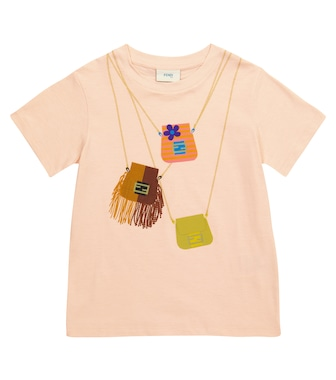 Fendi Kids - Printed cotton T-shirt - mytheresa.com