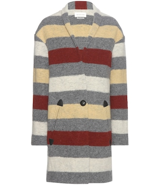 Isabel Marant, Étoile - Gabrie striped wool-blend coat - mytheresa.com