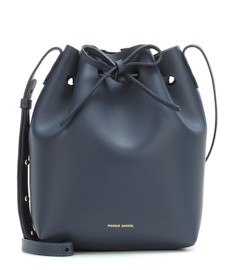 Mansur Gavriel - Small leather bucket bag - mytheresa.com