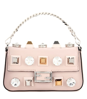 Fendi - Micro Baguette leather shoulder bag - mytheresa.com