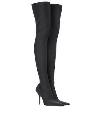 Balenciaga - Knife over-the-knee boots - mytheresa.com