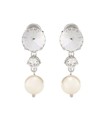 Miu Miu - Crystal-embellished clip-on earrings - mytheresa.com