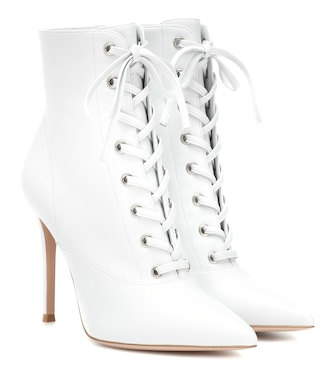 Gianvito Rossi - Exclusive to Mytheresa – Lace-up leather ankle boots - mytheresa.com