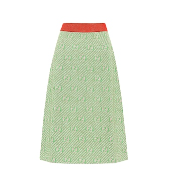 Gucci - GG striped wool-blend skirt - mytheresa.com