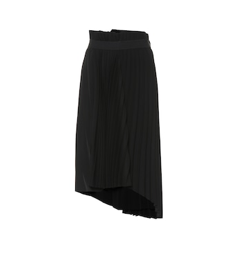 Balenciaga - Asymmetric pleated midi skirt - mytheresa.com