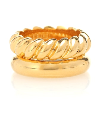 Sophie Buhai - Stacked Rope 18kt gold-vermeil ring - mytheresa.com